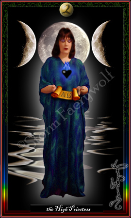 """The High Priestess"" ©2005 Storm Faerywolf"